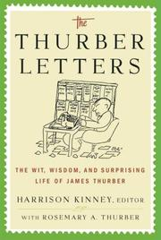 THE THURBER LETTERS by Harrison Kinney