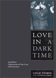 LOVE IN A DARK TIME by Colm Tóibín