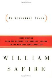 NO UNCERTAIN TERMS by William Safire