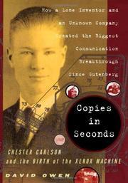 COPIES IN SECONDS by David Owen