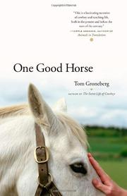 ONE GOOD HORSE by Tom Groneberg
