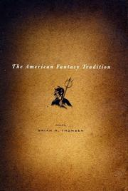 Cover art for THE AMERICAN FANTASY TRADITION