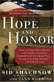 HOPE AND HONOR by Major General Sid Shachnow