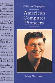 AMERICAN COMPUTER PIONEERS by Mary Northrup
