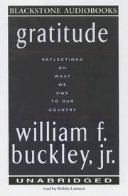 GRATITUDE by William F. Buckley Jr.