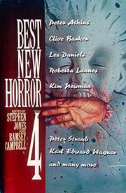 BEST NEW HORROR 4 by Stephen Jones