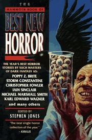 THE MAMMOTH BOOK OF BEST NEW HORROR 8 by Stephen Jones