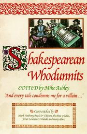 Cover art for SHAKESPEAREAN WHODUNNITS