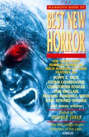 THE MAMMOTH BOOK OF BEST NEW HORROR 9 by Stephen Jones