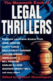Cover art for THE MAMMOTH BOOK OF LEGAL THRILLERS