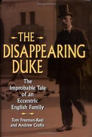 DISAPPEARING DUKE by Tom Freeman-Keel