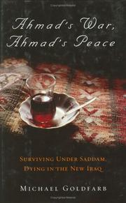 Book Cover for AHMAD'S WAR, AHMAD'S PEACE