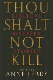 THOU SHALT NOT KILL by Anne Perry