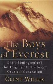 THE BOYS OF EVEREST by Clint Willis