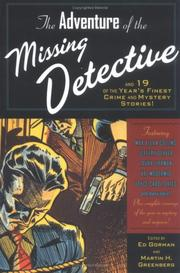 THE ADVENTURE OF THE MISSING DETECTIVE by Ed Gordon