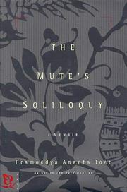 THE MUTE'S SOLILOQUY by Pramoedya Ananta Toer