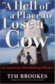 "Book Cover for ""A HELL OF A PLACE TO LOSE A COW"""