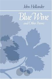 BLUE WINE and Other Poems by John Hollander