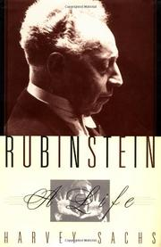 RUBINSTEIN by Harvey Sachs