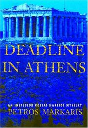 Cover art for DEADLINE IN ATHENS