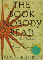 THE BOOK NOBODY READ by Owen Gingerich