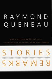 STORIES AND REMARKS by Raymond Queneau