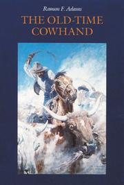 THE OLD TIME COWHAND by Hamon Adams