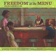 FREEDOM ON THE MENU by Carole Boston Weatherford