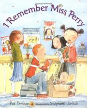 Cover art for I REMEMBER MISS PERRY