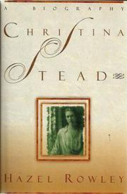 Cover art for CHRISTINA STEAD