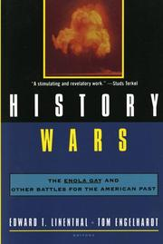 HISTORY WARS by Edward T. Linenthal