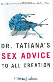 Cover art for DR. TATIANA'S SEX ADVICE TO ALL CREATION