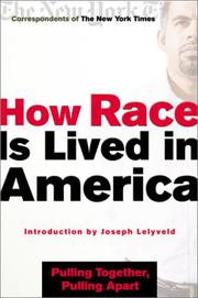 HOW RACE IS LIVED IN AMERICA by Joseph Lelyveld