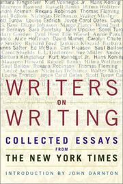 WRITERS ON WRITING by John Darnton