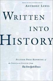 WRITTEN INTO HISTORY by Anthony Lewis
