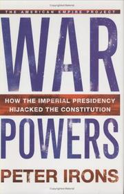 WAR POWERS by Peter Irons