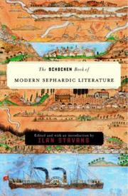 THE SCHOCKEN BOOK OF MODERN SEPHARDIC LITERATURE by Ilan Stavans