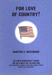 FOR LOVE OF COUNTRY by Martha C. Nussbaum