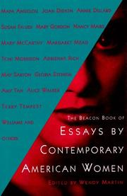 THE BEACON BOOK OF ESSAYS BY CONTEMPORARY AMERICAN WOMEN by Wendy Martin