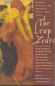 THE LEAP YEARS by Mary Anne Maier