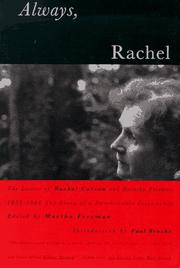 ALWAYS, RACHEL by Rachel Carson