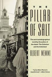 THE PILLAR OF SALT by Albert Memmi