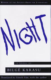 NIGHT by Bilge Karasu