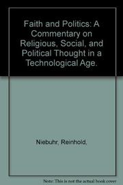 FAITH AND POLITICS by Reinhold Niebuhr