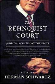 THE REHNQUIST COURT by Herman Schwartz
