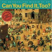 CAN YOU FIND IT, TOO? by Judith Cressy