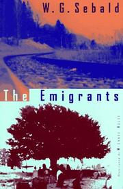 THE EMIGRANTS by W.G. Sebald