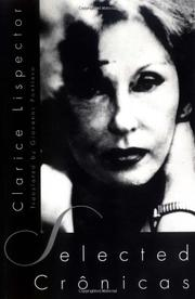 SELECTED CRONICAS by Clarice Lispector