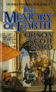 THE MEMORY OF EARTH by Orson Scott Card