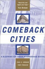 COMEBACK CITIES by Paul Grogan